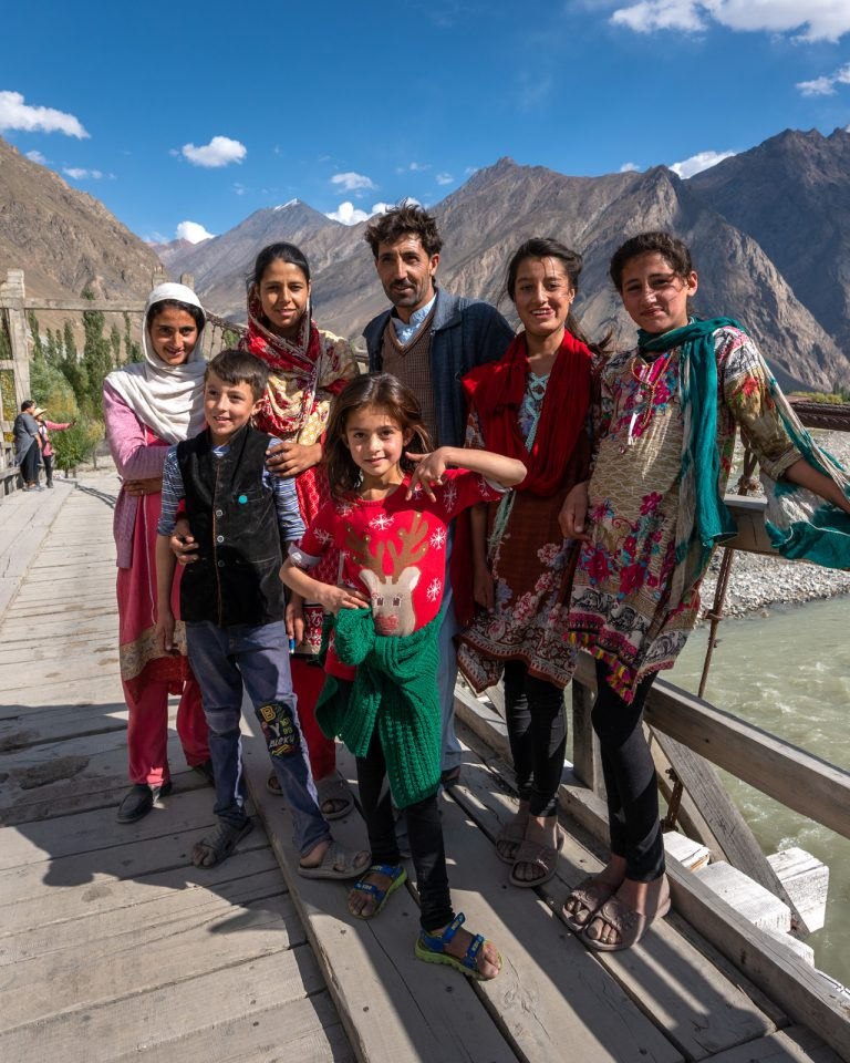 Local family in Gilgit-Baltistan, Pakistan