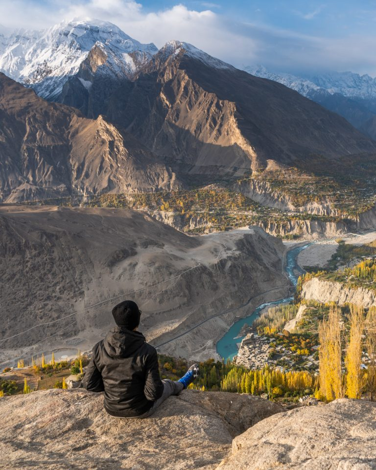 Pakistani traveler in Hunza, Pakistan