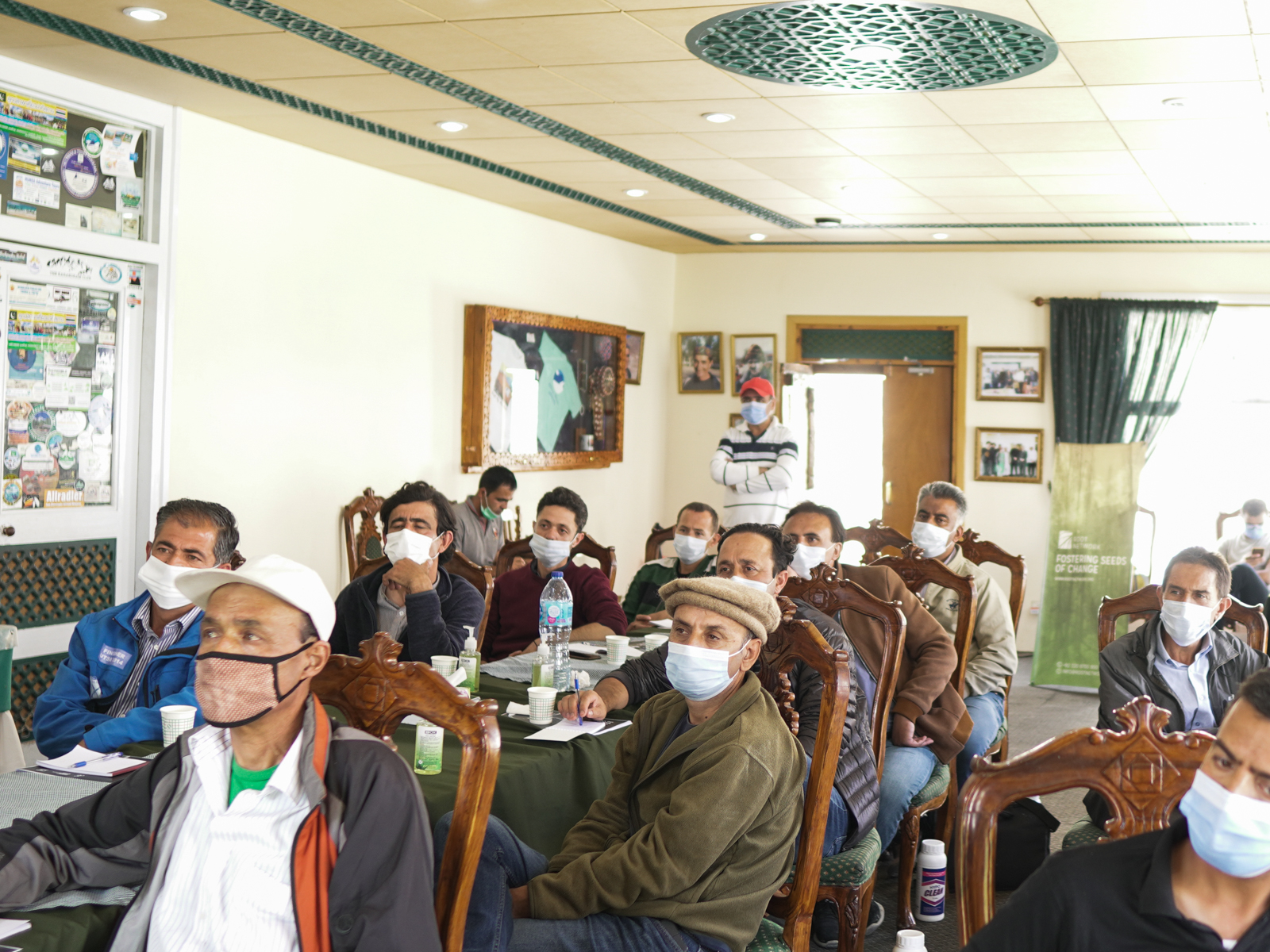 Tourism professionals at the Root Network COVID-19 Safety training in Passu, Gilgit-Baltistan, Pakistan